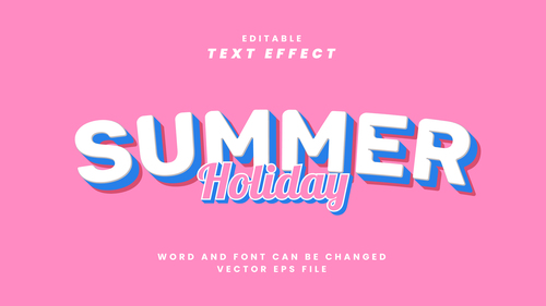 Summer vector editable text effect