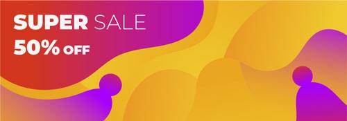 Super Sale banner template vector