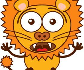 Surprised lion vector