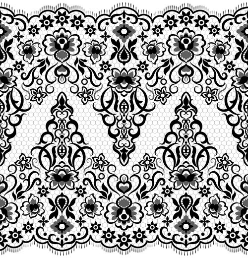 Template flower knitted pattern vector