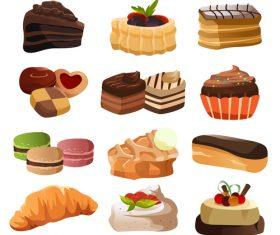 Tempting dessert vector