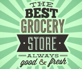 The best grocery card vector