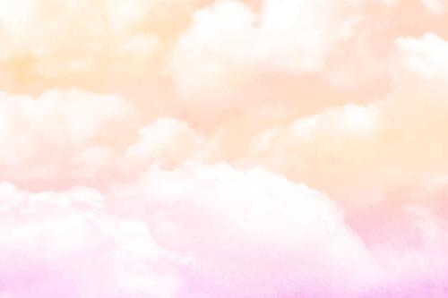 Thick colorful clouds watercolor painting vector