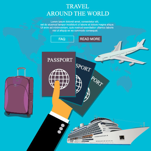 Travel around the world concept vector