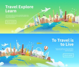 Travel explore learn vector