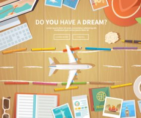 Travel illustration vector