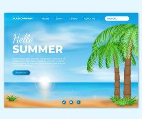 Travel website login page design vector