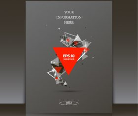 Triangle composition brochure background vector