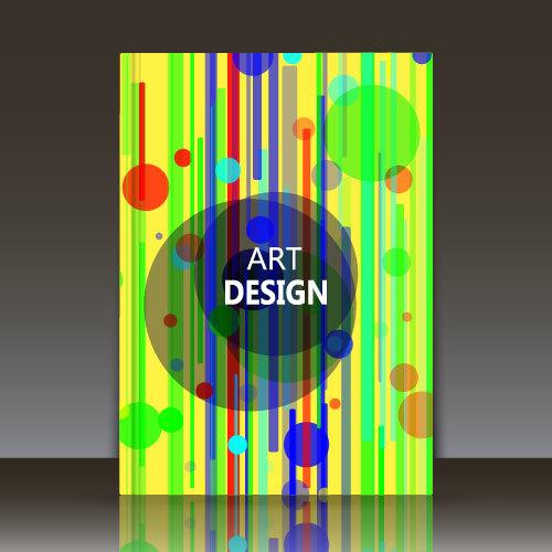 Tricolor line brochure background vector