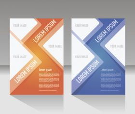 Two-color flyer layout vector