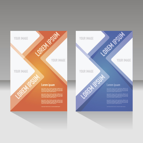 Two color flyer layout vector