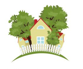 Vacation country house vector