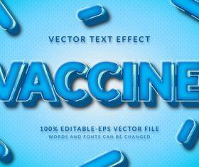 Vaccine vector text effect