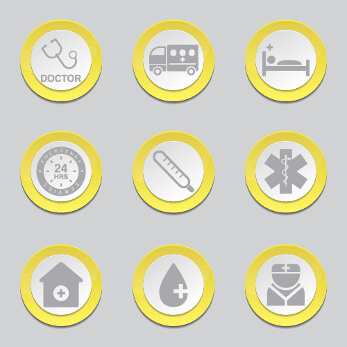 Various button Icon vector