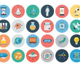 Various technology icons vector