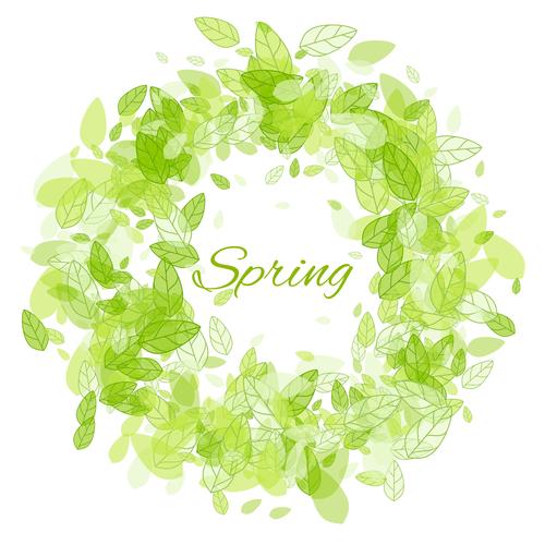 Vector background spring breath