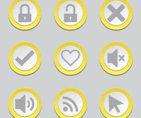 Vector button Icon
