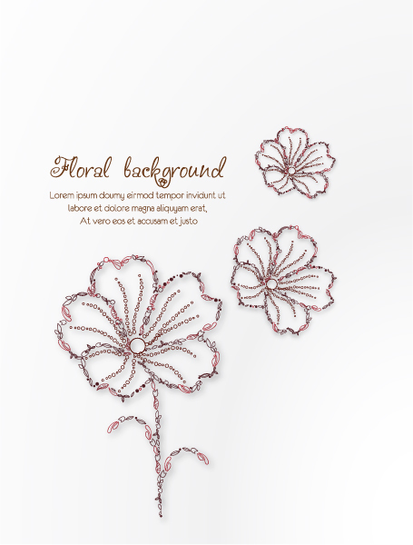 Vectorious floral background