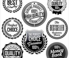 Vintage black and white badges vector