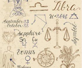 Virgo or Scales zodiac sign vector