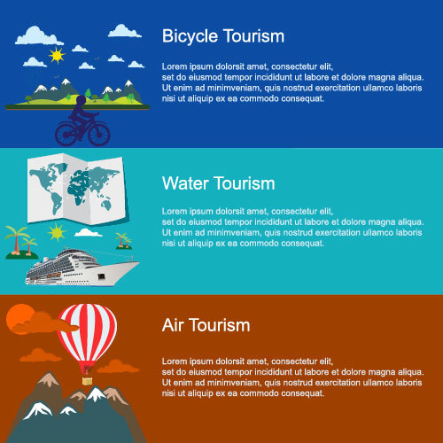 Water tourism concept banner vector