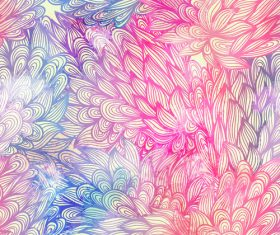 Watercolor painting floral leaf background vector