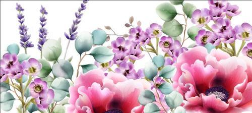 Watercolor wild flower vector