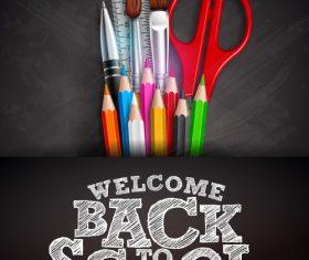 Welcome back to school flyer vector
