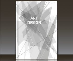 White geometric pattern brochure background vector