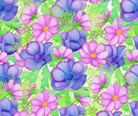 Wild flowers seamless background vector