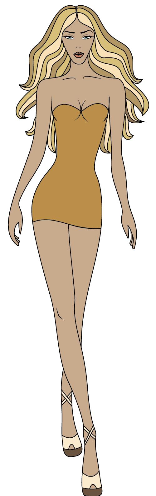 Woman in miniskirt vector