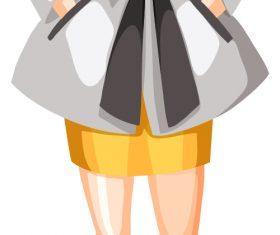 Women character cartoon model vector