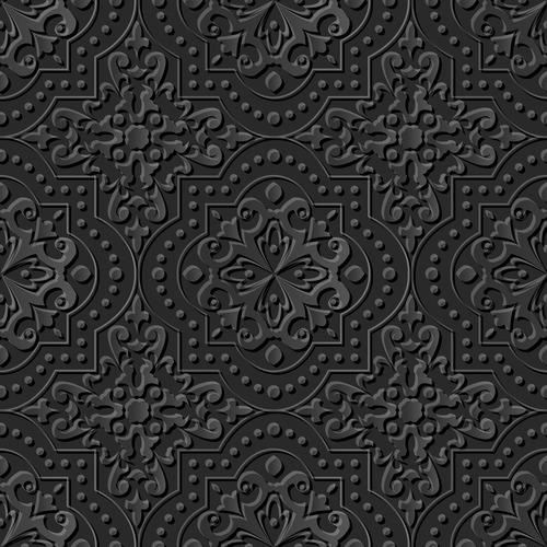 Wonderful decorative engraving pattern vector