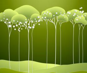 Woods cartoon illustration vector background