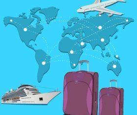 Worldwide travel concept vector
