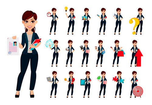 Young beautiful business woman vector