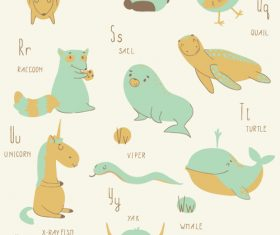ZOO alphabet vector