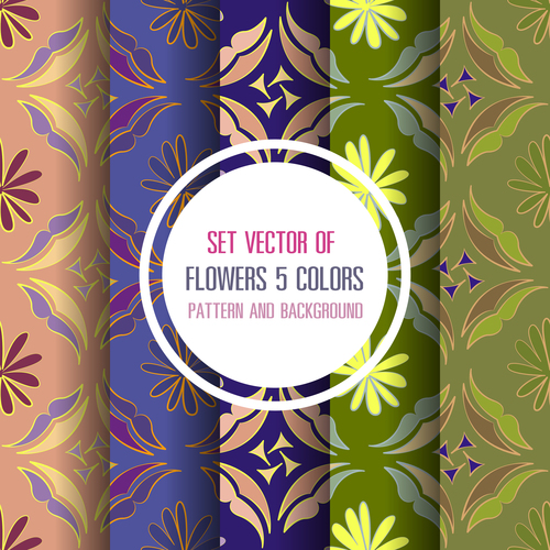 vector floral color pattern and background