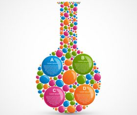 Abstract bottle infographic vector