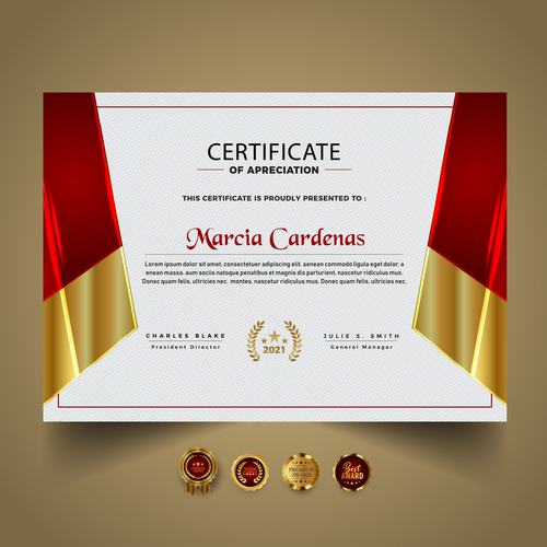 Advanced diploma certificate vector