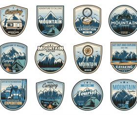 Adventure logos in vector