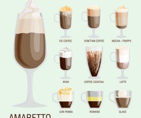 Amaretto coffee vector