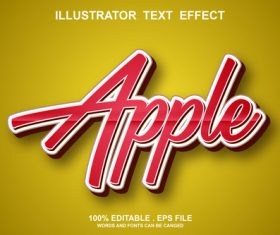 Apple text font style vector