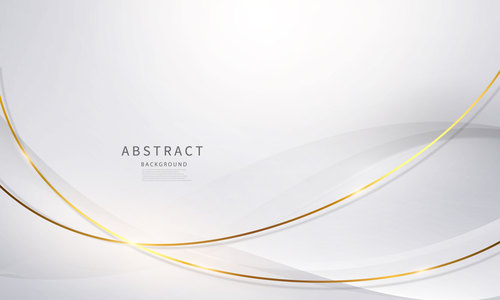 Arc gold line abstract background vector