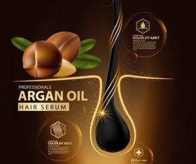 Argan oil essence ad template vector