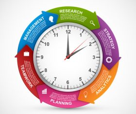 Arrange time wisely infographic vector