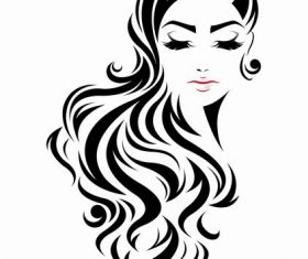 Artificial curly hairstyle vector