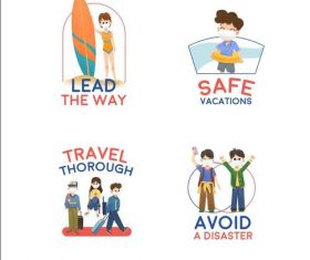 Avoid a disaster Covid-19 prevention concept illustration vector