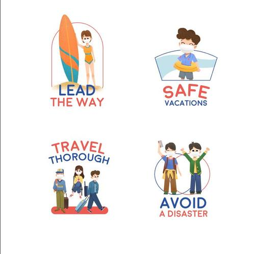 Avoid a disaster Covid 19 prevention concept illustration vector