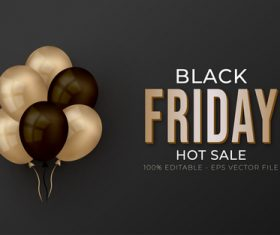 BLACK FRIDAY text font style vector